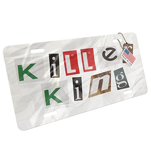 Metal License Plate Killer King Ransom Blackmail Letter - Neonblond