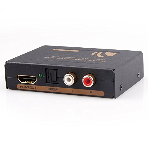 HDMI Audio Extractor Splitter, One HDMI Input, One HDMI Outp