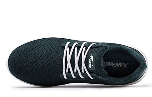 Onemix Cuña Unisex Sintético Adultos Material Verde de Sandalias Negro Y con AOxRrTA