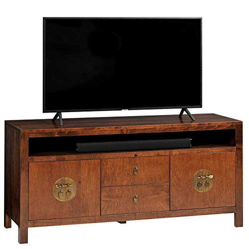 TVLiftCabinet, Inc Addison Reserve TV Stand in Aged Brown Finish