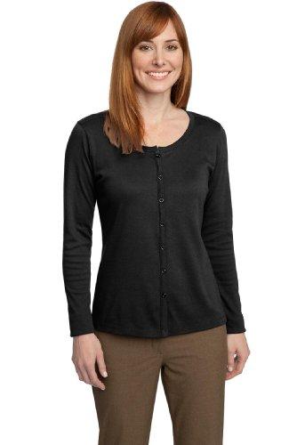 Port Authority Womens Silk Touch Interlock Cardigan