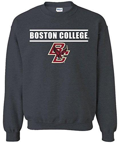 NCAA Boston College Eagles Adult Unisex NCAA Bars Logo Crewneck Sweatshirt,Large,DarkHeather