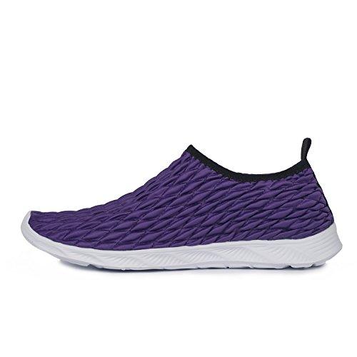 Séchage Pour Aquatiques Aqua Piscine Hishoes Violet Chaussures Respirants et Rapide Shoes Homme Plage wcB8RFIqx1