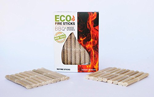 - Eco Fire Lighter for Stoves, BBQ Fire Starter Charcoal Grill Fire Sticks & Wood Stove Lighter
