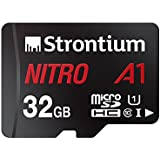 Strontium Nitro 32GB Micro SDHC Memory Card 100MB/s A1 UHS-I U1 Class 10 w/Adapter High Speed For Smartphones Tablets Drones Action Cams (SRN32GTFU1A1A)