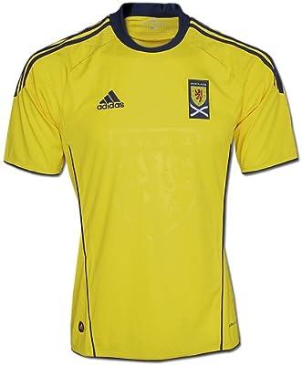adidas Scotland Away Camiseta de fútbol 2011/2012, Amarillo - Azul: Amazon.es: Deportes y aire libre