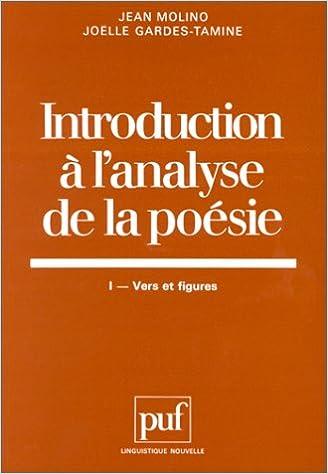 Téléchargement Introduction à l'analyse de la poésie pdf, epub