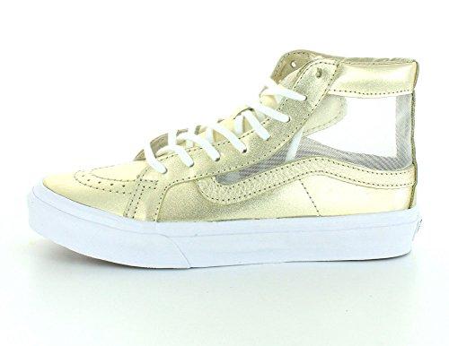 Wheat Women's Cutout Sk8 Metallic White Vans Slim Hi True Gold Mesh S0OnxgqH
