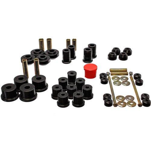 Energy Suspension 4.18111G Bushings - Energy Suspension Hyperflex Bushing Kits Bushing Kit - Polyurethane - Black - Ford - Mustang - Kit