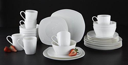 Roscher 32-pc. Kelsey Soft Square Bone China Dinnerware Set - Buy ...