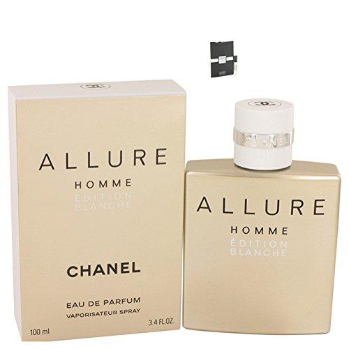 Chánél Allurë Hommë Blänchë Colognë For Men Eau De Parfum Spray 3.4 oz Free! LH Cologne 0.06 oz