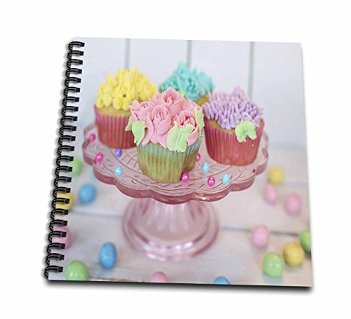 3dRose Food - Image of Pastel Cupcakes On A Pedestal - Memory Book 12 x 12 inch (db_262514_2)