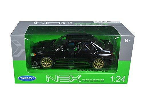welly-2005-subaru-impreza-wrx-sti-1-24-scale-diecast-model-car-black