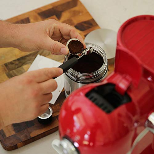 SEAL POD Reusable Nespresso Capsules - Stainless Steel Refillable Pods for Nespresso Machines (OriginalLine Compatible) (2, 100 Lids)
