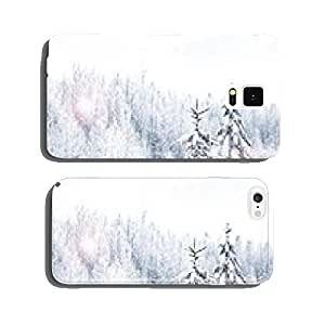 Winter Forest. Winter landscape. cell phone cover case Samsung S6