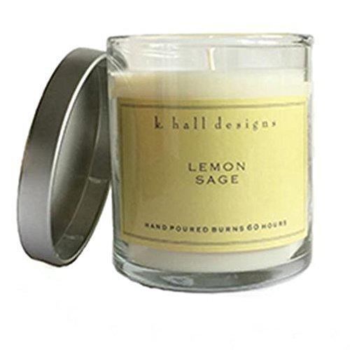 K Hall Designs 60-Hour Vegetable Wax Candle - Lemon - Vegetable Hour 60 Wax Candle