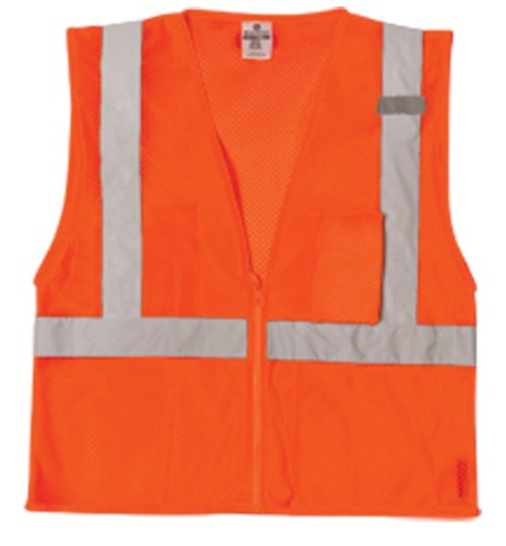 Ultra Mesh Cool (ML Kishigo 1086 Ultra-Cool Polyester Mesh 3 Pocket Vest, Large, Orange)