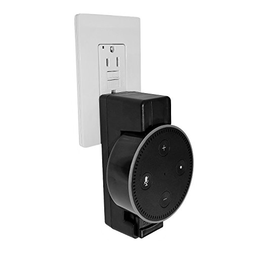 Price comparison product image TecScan DotDock - Cord-free Mount for Echo Dot 2nd Generation (Accessory - Black)