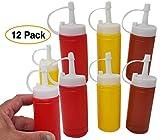 Mini Condiment Dispenser Set Ketchup, Mustard & BBQ sauce (12 bottles) squeeze bottles 6 Oz.