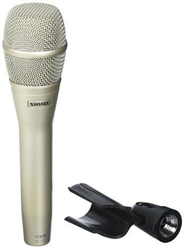 Shure KSM9/SL Dual-Pattern Condenser Handheld Vocal Microphone, Champagne (Handheld Vocal Microphone Supercardioid)