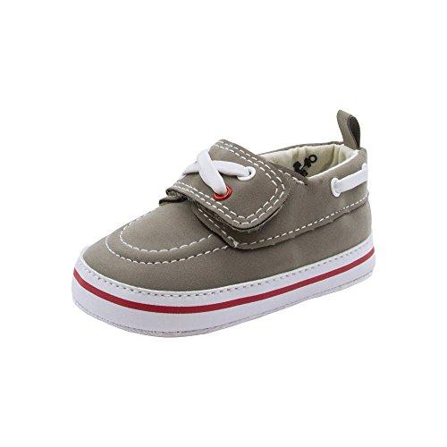 Image of BARE HUGS Baby Boys Soft Infant Boat Shoe Style Loafer Dark Grey 0-3 Months