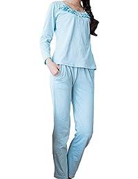 Godsen Women's Cotton Pajamas Set Long Sleeve Sleepwear Sets
