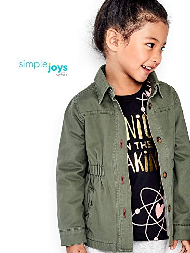 SIMPLE JOYS BY CARTERS TWILL BUTTON UP JACKET NINAS