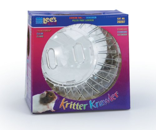 Lee's Kritter Krawler Exercise Ball, Standard, Clear - 7-Inch