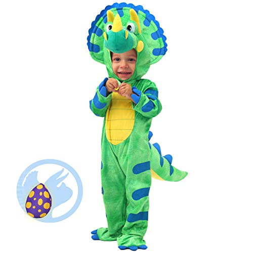 Baby Dinosaur Egg Costumes - Spooktacular Creations Baby Triceratops Dinosaur Costume