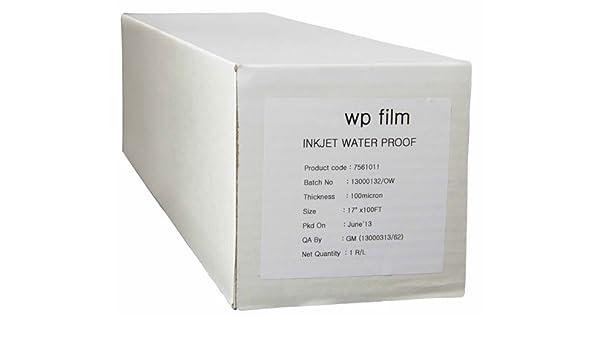 """4mil Waterproof Inkjet Screen Positive Film 17/"""" x 100/' 4 Roll"""
