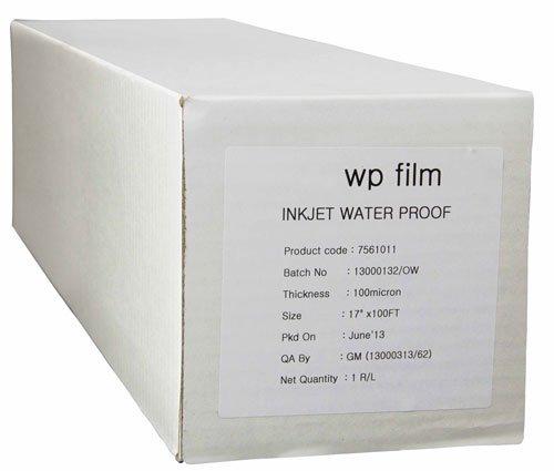 36 x 100' Gloss Waterproof Inkjet Film, 4mil, 1 Roll