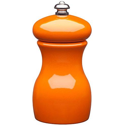 Mario Orange Mill - Fletchers' Mill Marsala Collection Pepper Mill, Orange - 4 Inch, Adjustable Coarseness Fine to Coarse, MADE IN U.S.A.