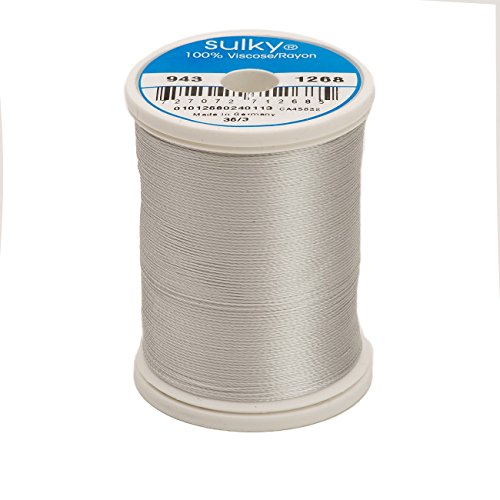 Sulky Of America 268d 40wt 2-Ply Rayon Thread, 850 yd, Light Grey Khaki