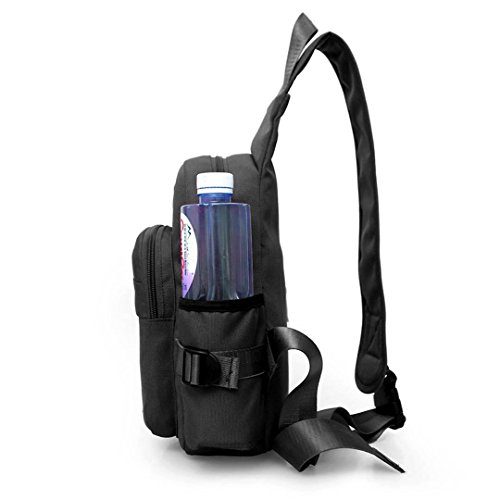 Water Bag Bag Cuddty Versatile Black with Women Chest Crossbody Shoulder Bottle Holder CqrwE8qYx