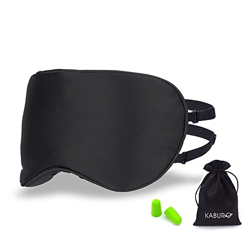 UPC 669665659253, Kaburo 100% Natural Mulberry Silk Sleep Mask with 2 Adjustable Straps, Super Soft Silk Eye Mask for Sleeping(Black)