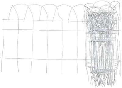 Origin Point 20-Foot x 14-Inch Gard'n Border Scroll Top Wire Fence