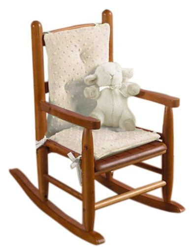 - Baby Doll Bedding Heavenly Soft CHILD Rocking Chair Cushion Pad Set, ivory/ecru(Chair is not included with the product)