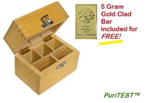 Acid Test Wood Box for Storage of Testing by PuriTEST