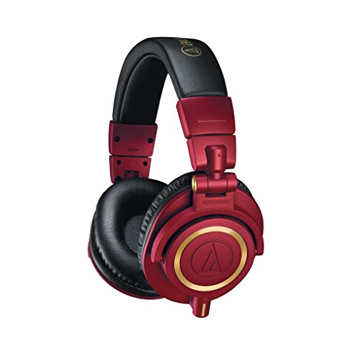 Audio-Technica ATH-M50xRD Professional Monitor Headphones, Red by Audio Technica