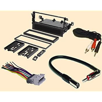 radio stereo install single din dash kit wire harness antenna adapter for chevy