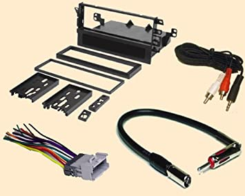 amazon com radio stereo install single din dash kit wire radio stereo install single din dash kit wire harness antenna adapter for chevy chevrolet