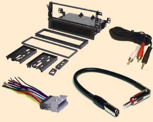 Radio Stereo Install Single Din Dash Kit + wire harness + antenna adapter for Chevy Chevrolet Tracker 2000 2001 2002 2003 2004 and Suzuki Grand Vitara 00 01 02
