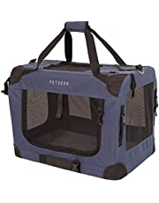 """Petseek Extra Large Cat Carrier Soft Sided Folding Small Medium Dog Pet Carrier 24""""x16.5""""x16"""" Travel Collapsible Ventilated Comfortable Design Portable Vehicle"""