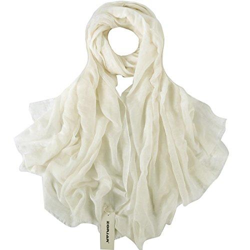 Fashion Linen - ZORJAR Women Fashion Linen Silk Scarf Shawl Wrap Soft Long Large 39