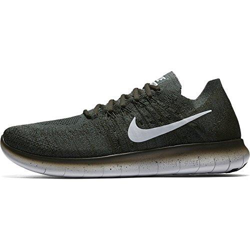 Nike Herren Free Rn Flyknit 2017 Traillaufschuhe, 38 EU Grün/Grau (Vintage Green/Sequoia/Pure Platinum)