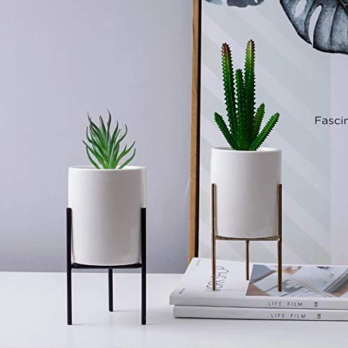 fuluomei FLM Estanteria para Macetas Soporte Macetas Plantas Met/álico para Hierbas y Flores,Color Blanco