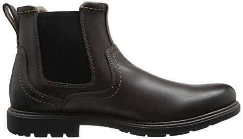 Clarks Mens Sumner Hi Chelsea Boot Brunt Läder