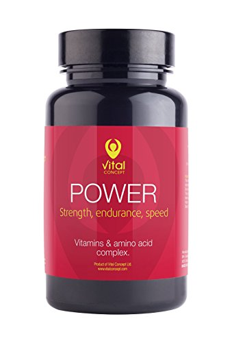 POWER – Fast recovery after demanding workouts pills. Tablets for sports that need targeted power, endurance and speed. Vitamins and amino acid complex. 60 Veggie Capsules, GMO and gluten (Amino Acid Complex Vegetable Capsules)