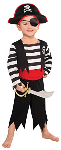 [Amscan Children's Rascal Pirate Costume Size Small 4-6] (Fun Cheap Easy Halloween Costumes)
