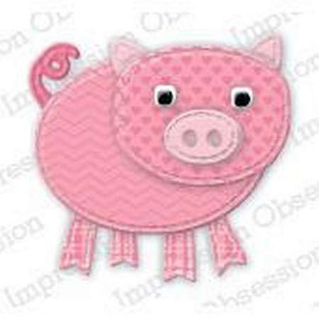 Impression Obsession Patchwork Pig craft die